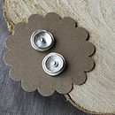 Handmade Silver Poppy Earrings