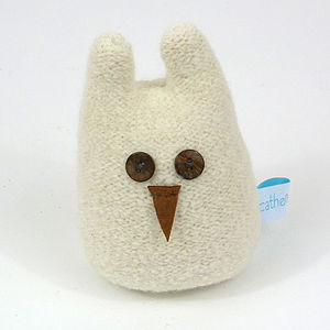 Lavender Snow Owl Small, Medium And Large - decorative accessories