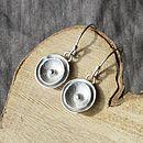 Handmade Silver Poppy Drop Earrings