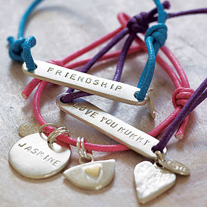 Personalised Friendship Bracelet - silver charm jewellery