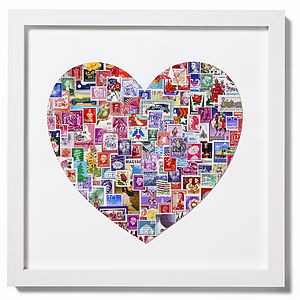 Stamp Heart Art - pictures, prints & paintings