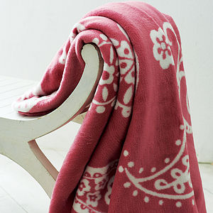 Paisley Blanket - blankets & throws