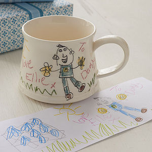 Your Child's Drawing On A Mug - gifts for fathers