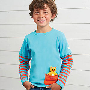 Detachable Teddy T Shirt - best gifts for boys