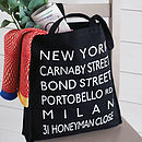 Personalised Destinations Canvas Shopper Bag