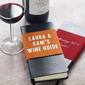 Wine Tasting Notebook - stocking fillers under £15
