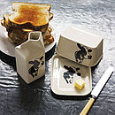 Cow Face Butter Dish