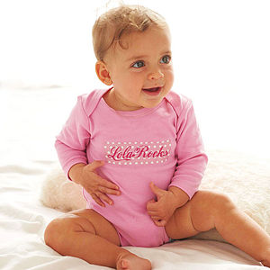 Personalised '…Rocks' Babygrow - babygrows