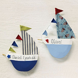 Personalised Gift Boat - little extras