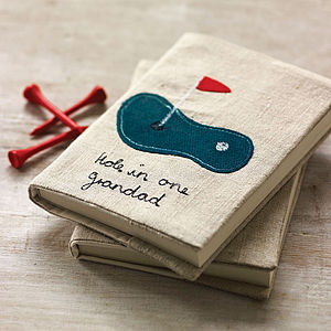 Personalised Vintage Linen Notebook   Golf - gifts for grandparents