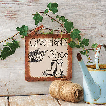 Personalised Wooden Garden Sign: brown edge