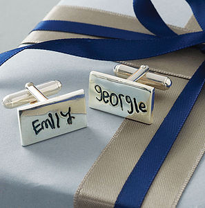 Personalised Signature Cufflinks - cufflinks