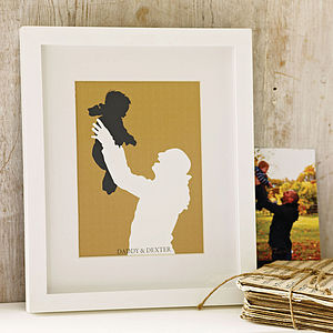 Personalised Family Silhouette Print - personalised gifts for fathers