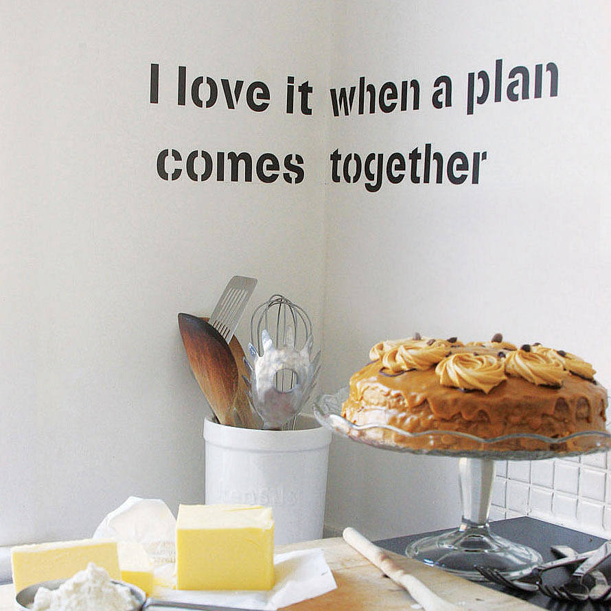 personalised quote wall sticker by spin collective