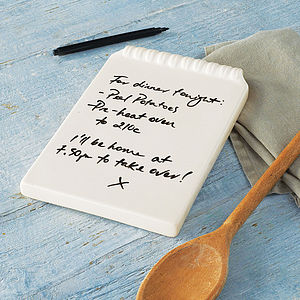 Ceramic Notepad - birthday gifts
