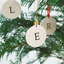 Personalised Initial Bauble Decoration