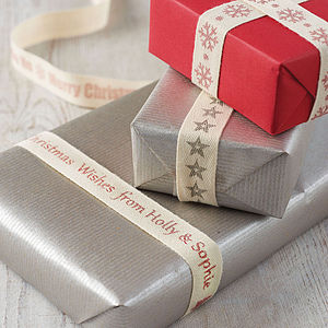 Personalised Christmas Ribbon - ribbon & wrap
