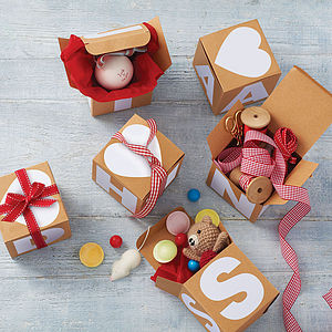 Alphabet Gift Box - wedding favours