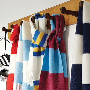 'Classic' Cashmere Football Scarf - 40th birthday gifts