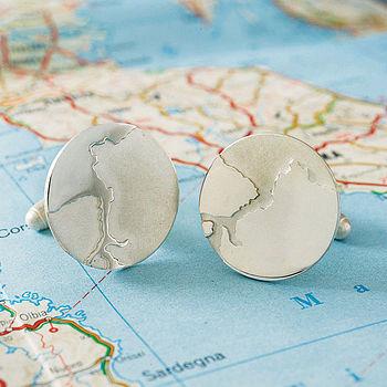 Personalised Coastline Cufflinks