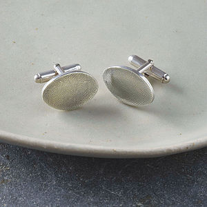 Under The Thumb Oval Cufflinks - for him