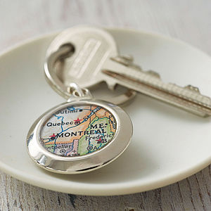 Personalised Map Key Ring - view all gifts for her