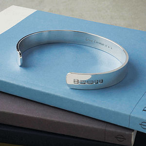 Personalised Men's Solid Silver Bracelet - gifts for him