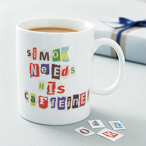 Personalised Ransom Note Mug - under £25