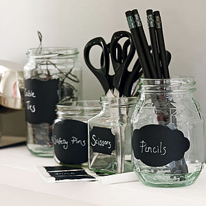 Set Of Chalkboard Labels - little extras for children