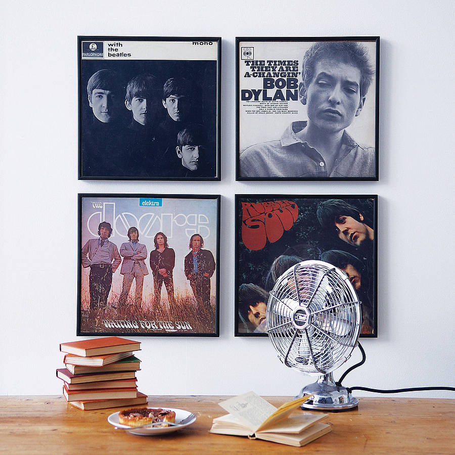 Book Jacket Wall Art : Record frame by the contemporary home notonthehighstreet