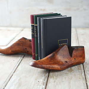 Pair Of Reclaimed Shoe Last Book Ends - bookends