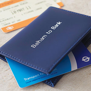 Personalised Travel Card Holder - for young men