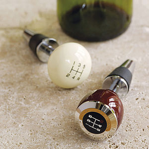 Gear Stick Bottle Stopper - for foodies