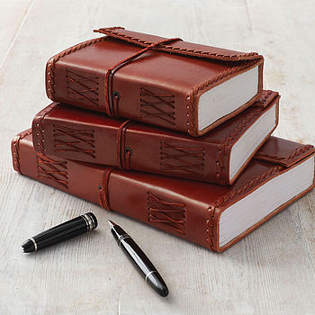 Fair Trade Stitched Leather Journal