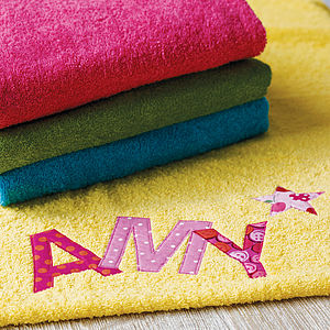 Bright Personalised Towel - clothing