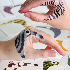 Animal Or Monster Hand Temporary Tattoos - children's parties