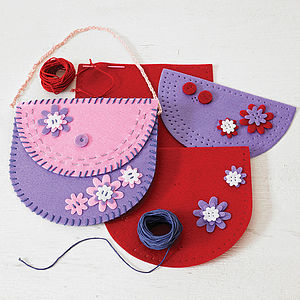Create Your Own Pretty Floral Purse Kit - gifts for children