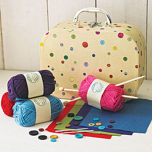 Learn To Knit Kit - sewing & knitting