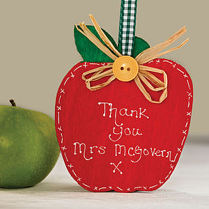 Personalised Thank You Teachers Apple - gifts for teachers