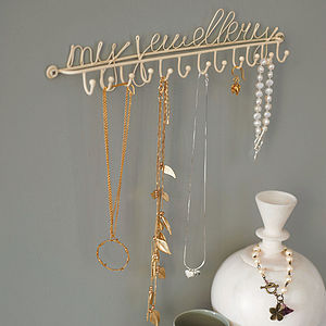 Wall Mounted Jewellery Or Necklace Hooks - bedroom