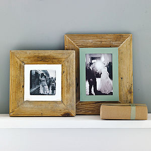 Reclaimed Wooden Frame - albums & keepsakes