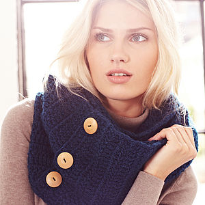 Knitted Button Detail Snood - gifts under £100 for her
