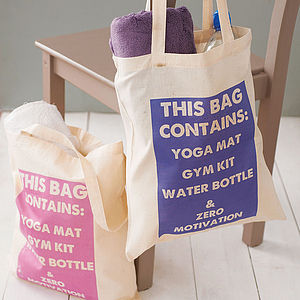 'This Bag Contains…' Gym Bag - bags & purses