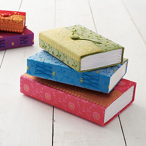 Handmade Sari Journal - diaries, stationery & books