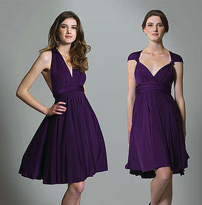 Multiway Knee Length Dress - bridesmaid fashion