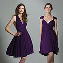 Multiway Knee Length Dress in Purple
