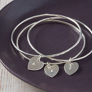 Personalised Heart Bangle - gifts for mothers