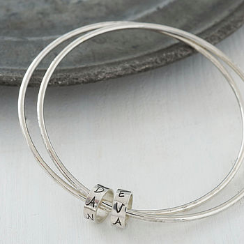 Personalised Silver Keepsake Bangles