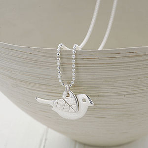 Silver Love Bird Pendant - necklaces & pendants