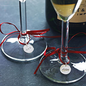 Set Of Two Personalised Wine Glass Labels - napkin rings